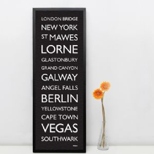 Wallspice Destination Blind Large Print :: People and Places Personalised to Remember Forever